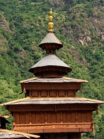 Mahasu Devta Temple at Hanol is notable for its traditional wooden architecture.