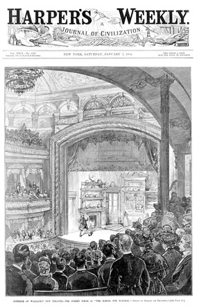 The School for Scandal on the cover of Harper's Weekly for January 7, 1882