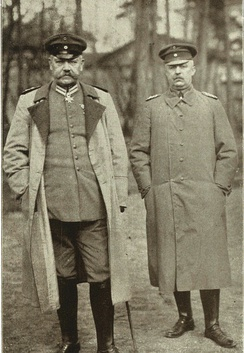 Field Marshal Hindenburg and Gen. Ludendorff in 1917. Their partnership formed the core of a dictatorship that dominated Germany for the rest of the war.