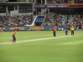 Perth Scorchers taking on Hobart Hurricanes at the WACA during BBL 01 (2011)