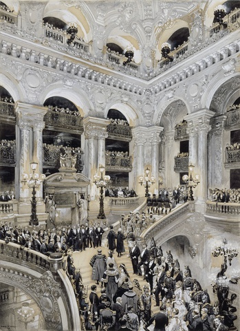 Inauguration of the Paris Opera in 1875 (Édouard Detaille, 1878)