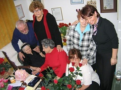 Sendler with some people she saved as children, Warsaw, 2005