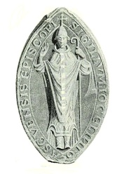 The seal or signet of Jocelin, a Cistercian monk and former Abbot of Melrose, who became one of the most significant bishops of Glasgow.