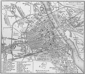 Map of Warsaw, from the 4th edition (1888).