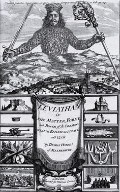 Frontispiece for Hobbes' Leviathan.