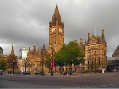 Alfred Waterhouse's Manchester Town Hall, where Foster worked as a junior clerk