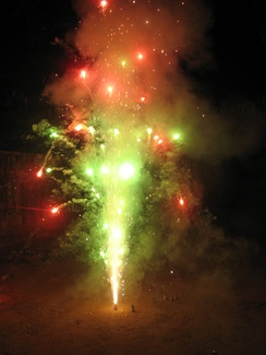Some Indians mark their traditional new year with fireworks