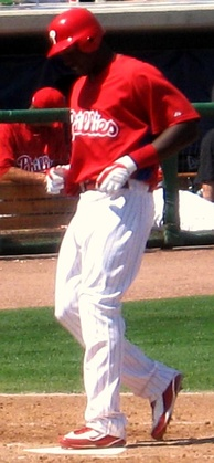 Mayberry with the Phillies in 2010