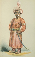 "Mansur Ali Khan of Bengal by ""Atn"" Alfred Thompson in the 16 April 1870 issue"