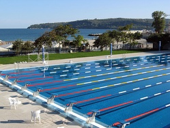 An Olympic-standard swimming pool in Varna.