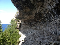 Overhanging Point along the Bruce Trail