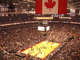 The Toronto Raptors play at the Air Canada Centre