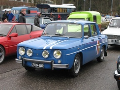 1964 Renault R8 Gordini was the first sportive compact car for a public consumption price.[49]
