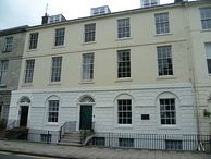 10 Rose Terrace, Perth (on the right), where Ruskin spent boyhood holidays with Scottish relatives