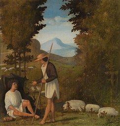 One of four paintings by Andrea Previtali which Clark attributed to Giorgione in 1937