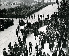 Sholem Aleichem's funeral on May 15, 1916