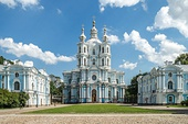 The Smolny Cathedral from Saint Petersburg (Russia), built between 1748 and 1764