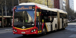 Scania K320UA articulated bus operating for SouthLink