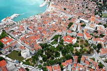The ancient core of the city of Split, the largest city in Dalmatia, built in and around the Palace of Emperor Diocletian