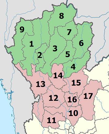 Upper and Lower Northern provinces