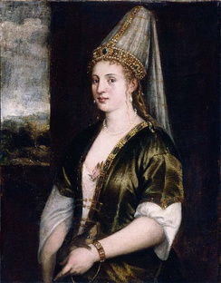 Hurrem Sultan, an Eastern European slave girl bought by the Ottoman Sultan Süleyman the Magnificent, who married her.