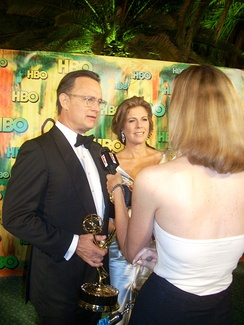 Actress and producer Rita Wilson (with lifelong husband Tom Hanks); she's best known for her production roles for Mamma Mia! and My Big Fat Greek Wedding, and acting roles in Sleepless in Seattle and Runaway Bride