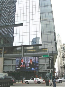 WBBM-TV's studios at Washington Boulevard and Dearborn Street, across from Daley Plaza.