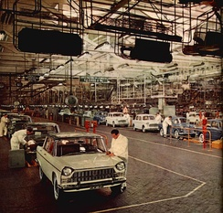 Fiat assembly line in 1961