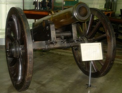 Bronze Licorne: caliber 152mm, effective range 1278m, height 174cm, weight 707kg, cast in 1849 in the Bryansk Arsenal master Nazarov, currently displayed at the Military-Historical Museum of Artillery, Engineers and Signal Corps, St. Petersburg.