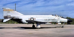 199th Tactical Fighter Squadron F-4C Phantom 63-7632 in Air Defense interceptor markings.