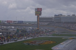 A rainy day at Charlotte Motor Speedway