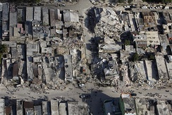 Downtown Port-au-Prince after the quake