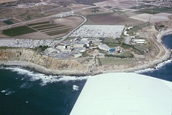Aerial view of Marineland of the Pacific, in 1965, on the Palos Verdes Peninsula.