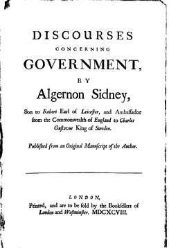 Title page of Sidney's Discourses Concerning Government (1698)