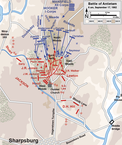 Assaults by the I Corps, 5:30 to 7:30 a.m.