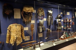 An exhibit of arms and armour from the museum's military collection
