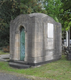 The Grade II-listed Baldwin family tomb takes the form of a Byzantine Revival mausoleum.