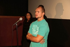 Borland attended the premier of GridIron Gladiators directed by Todd Trigsted