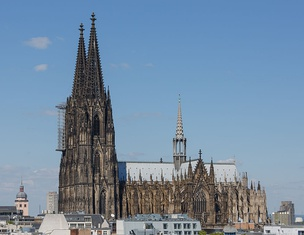 Cologne Cathedral, finally completed in 1880 although construction began in 1248