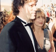Pfeiffer and her husband, David E. Kelley, at the 47th Emmy Awards in 1994