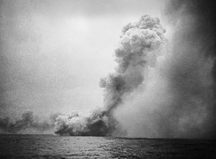 HMS Queen Mary blowing up