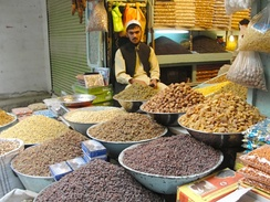 Dry food in one of Kabul's markets