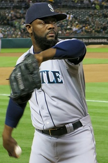 Rodney pitching in bullpen with the Seattle Mariners in 2014