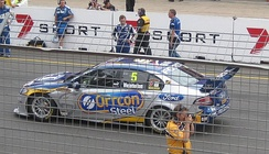 The Ford Performance Racing entered Ford FG Falcon of Mark Winterbottom at the 2010 Clipsal 500 Adelaide.