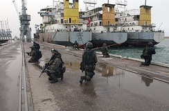 Polish GROM forces in sea operations during Operation Iraqi Freedom