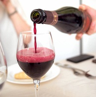 A glass of Lambrusco from Italy