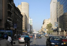 Karachi's downtown is centered on I. I. Chundrigar Road.