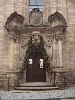 Entrance to the Spitalkirche