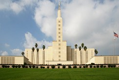 Built in 1956, the Los Angeles California Temple of The Church of Jesus Christ of Latter-day Saints is the second largest LDS temple in the world.