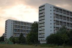The Loughborough Estate in the east of the area